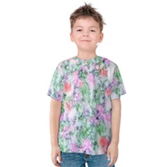 Softly Floral A Kids  Cotton Tee