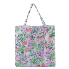 Softly Floral A Grocery Tote Bag