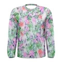 Softly Floral A Men s Long Sleeve Tee
