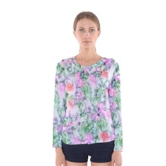 Softly Floral A Women s Long Sleeve Tee
