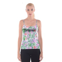 Softly Floral A Spaghetti Strap Top