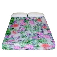 Softly Floral A Fitted Sheet (California King Size)