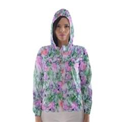 Softly Floral A Hooded Wind Breaker (Women)