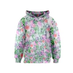 Softly Floral A Kids  Pullover Hoodie