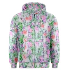 Softly Floral A Men s Zipper Hoodie