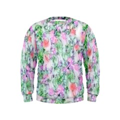 Softly Floral A Kids  Sweatshirt