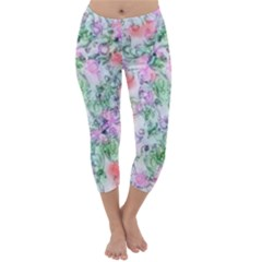 Softly Floral A Capri Winter Leggings