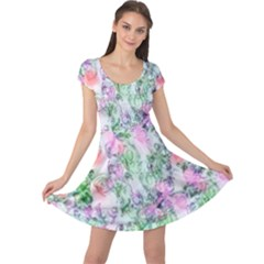 Softly Floral A Cap Sleeve Dresses