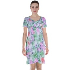 Softly Floral A Short Sleeve Nightdress