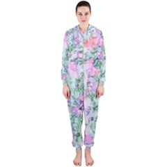 Softly Floral A Hooded Jumpsuit (Ladies)