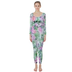 Softly Floral A Long Sleeve Catsuit