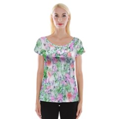 Softly Floral A Women s Cap Sleeve Top