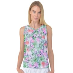Softly Floral A Women s Basketball Tank Top