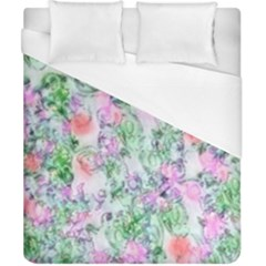 Softly Floral A Duvet Cover (California King Size)