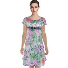 Softly Floral A Cap Sleeve Nightdress
