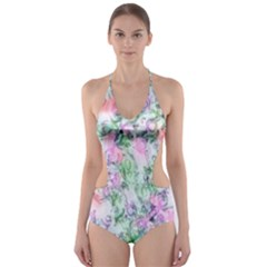 Softly Floral A Cut-Out One Piece Swimsuit