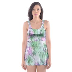 Softly Floral A Skater Dress Swimsuit