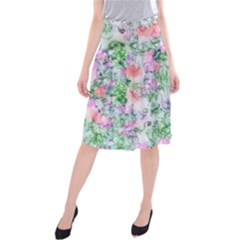 Softly Floral A Midi Beach Skirt