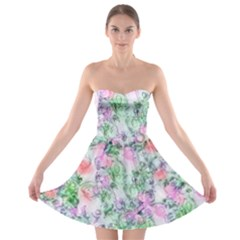 Softly Floral A Strapless Bra Top Dress