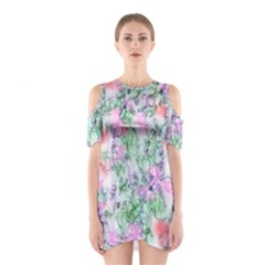 Softly Floral A Shoulder Cutout One Piece