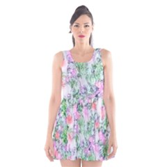 Softly Floral A Scoop Neck Skater Dress