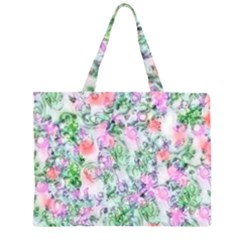 Softly Floral A Large Tote Bag