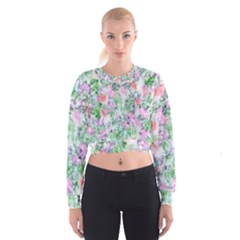 Softly Floral A Cropped Sweatshirt