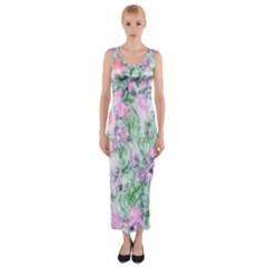 Softly Floral A Fitted Maxi Dress