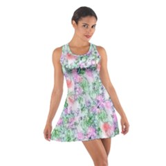 Softly Floral A Cotton Racerback Dress
