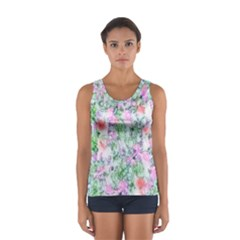 Softly Floral A Women s Sport Tank Top