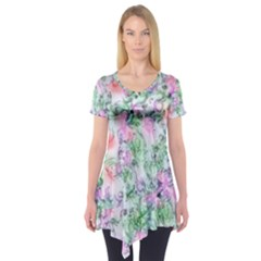 Softly Floral A Short Sleeve Tunic
