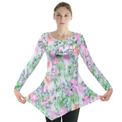 Softly Floral A Long Sleeve Tunic