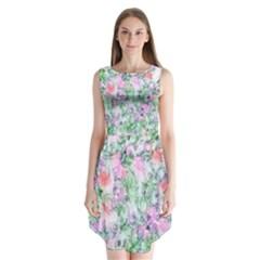 Softly Floral A Sleeveless Chiffon Dress