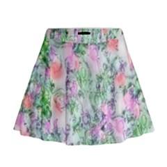 Softly Floral A Mini Flare Skirt