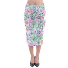 Softly Floral A Midi Pencil Skirt
