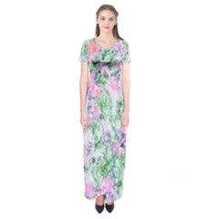 Softly Floral A Short Sleeve Maxi Dress