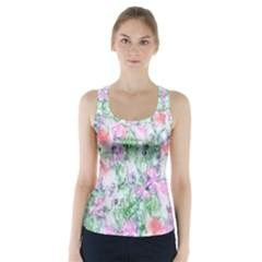 Softly Floral A Racer Back Sports Top