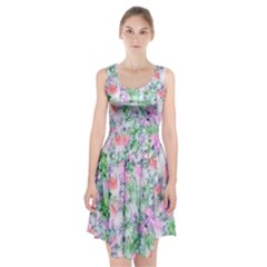 Softly Floral A Racerback Midi Dress