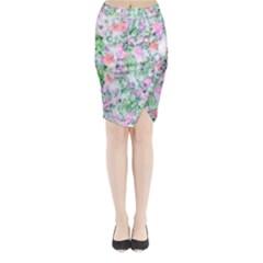 Softly Floral A Midi Wrap Pencil Skirt