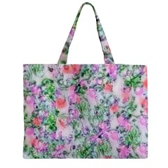Softly Floral A Medium Tote Bag