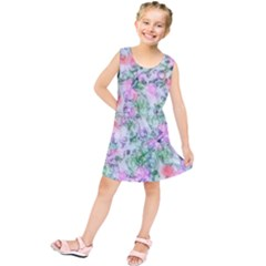 Softly Floral A Kids  Tunic Dress