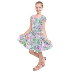 Softly Floral A Kids  Short Sleeve Dress