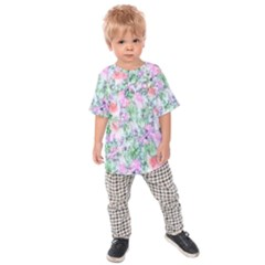 Softly Floral A Kids  Raglan Tee