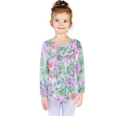 Softly Floral A Kids  Long Sleeve Tee