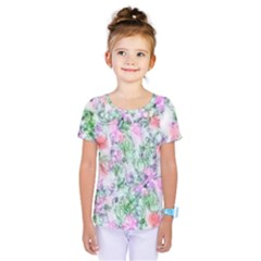 Softly Floral A Kids  One Piece Tee