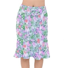 Softly Floral A Mermaid Skirt