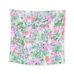 Softly Floral A Square Tapestry (small)