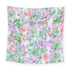 Softly Floral A Square Tapestry (large)