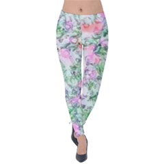 Softly Floral A Velvet Leggings