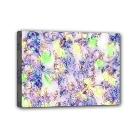 Softly Floral B Mini Canvas 7  x 5